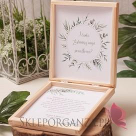 Prośba o świadkowanie - personalizacja kolekcja ślubna ZIELONA GAŁĄZKA