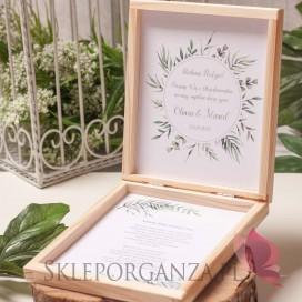 ZIELONA GAŁĄZKA na ślub Prośba o błogosławieństwo - personalizacja kolekcja ślubna ZIELONA GAŁĄZKA