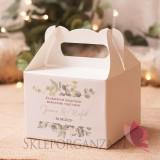 Pudełko na ciasto średnie – personalizacja kolekcja ślubna EUKALIPTUS