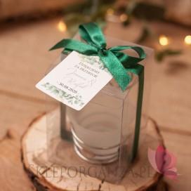 EUKALIPTUS na ślub Świecznik serce – personalizacja kolekcja ślubna EUKALIPTUS