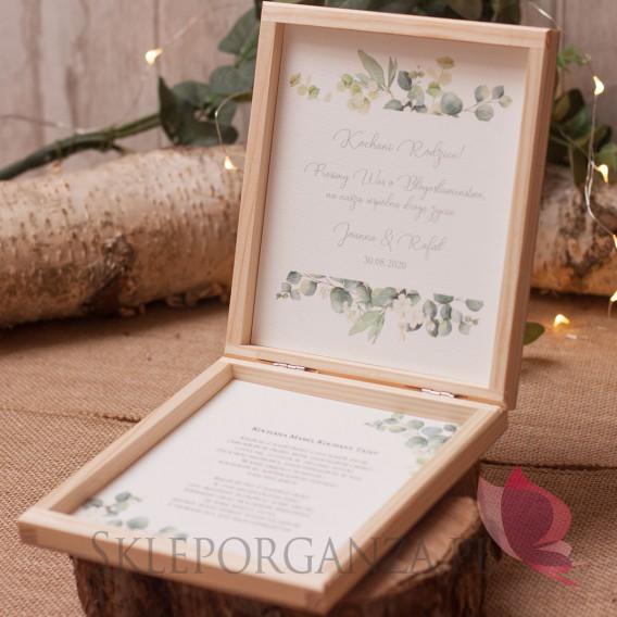 EUKALIPTUS na ślub Prośba o błogosławieństwo - personalizacja kolekcja ślubna EUKALIPTUS