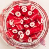 Serca Cukierki karmelki czerwone z sercem