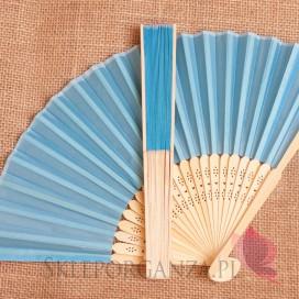 Wachlarz materiałowy niebieski