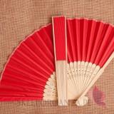 Wachlarz materiałowy czerwony