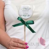 Lizak biały duży - personalizacja Ślubowanie