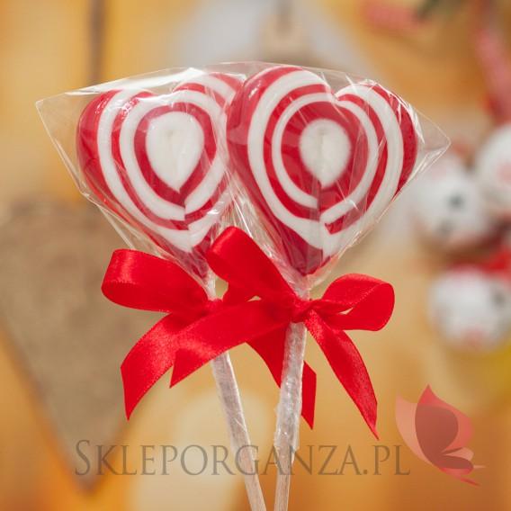 Lizaki świąteczne Lizak serce czerwone - ŚWIĘTA