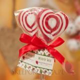 Lizak serce czerwone – personalizacja – ŚWIĘTA