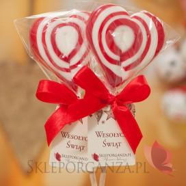 Lizaki świąteczne Lizak serce czerwone – personalizacja – ŚWIĘTA