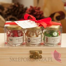 Pozostałe zestawy świąteczne z LOGO Świąteczny zestaw upominkowy karmelki – personalizacja