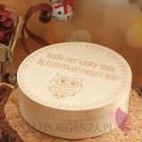 Zestawy świąteczne prezentowe z miodami Drewniane pudełko GRAWER świąteczne – Dla Nauczycieli