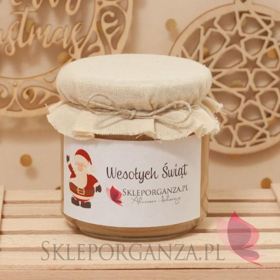 Miody świąteczne Personalizowany miód lipowy z maliną DUŻY - personalizacja - ŚWIĘTA