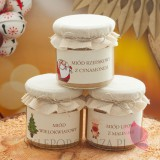 Zestawy świąteczne prezentowe z miodami Świąteczny miód DUŻY w szkatułce - personalizacja
