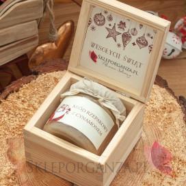 Świąteczny miód DUŻY w szkatułce - personalizacja