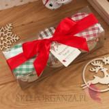 Zestawy świąteczne prezentowe z miodami Świąteczny zestaw upominkowy miody DUŻE – wstążka personalizacja