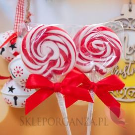 Lizaki świąteczne Lizak okrągły czerwony - Święta