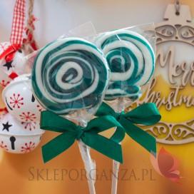 Lizaki świąteczne Lizak okrągły ciemnozielony - Święta