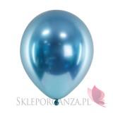 Balony CHROMOWANE glossy niebieskie 30cm, 6 sztuk
