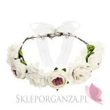 Kolekcja Team Bride Boho Wianek białe kwiaty, 17cm