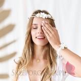 Wianek rustykalny białe kwiatki, 18cm