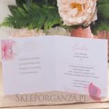 Kolekcja Geometryczna gold róż kwiaty na Komunię Zaproszenie Komunia – personalizacja kolekcja GEOMETRYCZNA GOLD RÓŻ KWIATY