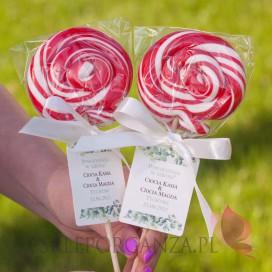 Słodycze dla dzieci Lizak okrągły czerwony - personalizacja - dla dzieci - Koniec Roku Szkolnego