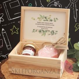 Zestawy z naturalnymi kosmetykami dla Nauczycieli Zestaw upominkowy różany w szkatułce – NATURA - personalizacja Dzień Nauczy...