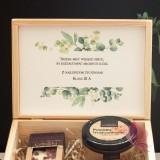 Zestawy z naturalnymi słodyczami dla Nauczycieli Zestaw upominkowy średni słodkości w szkatułce - NATURA -personalizacja Dzie...