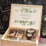 Zestaw upominkowy ekskluzywny słodkości w szkatułce – NATURA -personalizacja Dzień Nauczyciela
