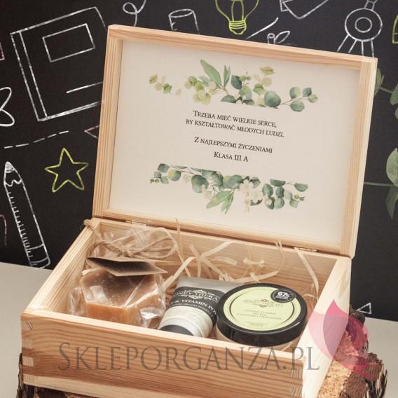 Zestawy z naturalnymi kosmetykami dla Nauczycieli Zestaw upominkowy średni kosmetyki w szkatułce - NATURA -personalizacja Dzi...