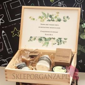 Zestaw upominkowy ekskluzywny kosmetyki w szkatułce - NATURA -personalizacja Dzień Nauczyciela