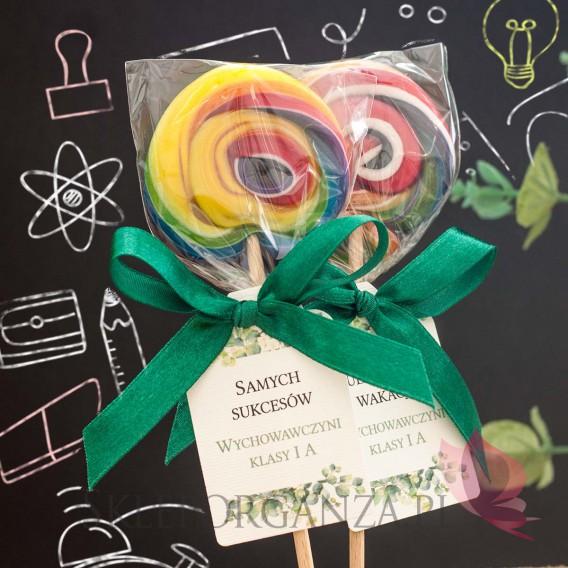 Słodycze dla dzieci - Pasowanie / Koniec roku szkolnego Lizak okrągły multikolor - personalizacja - dla dzieci - Koniec Roku ...