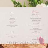 GEOMETRYCZNA GOLD RÓŻ KWIATY na ślub Menu - personalizacja kolekcja ślubna GEOMETRYCZNA GOLD RÓŻ KWIATY