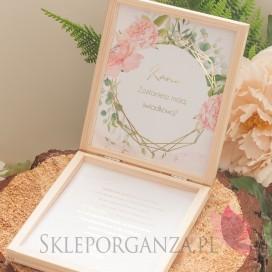 Prośba o świadkowanie - personalizacja kolekcja ślubna GEOMETRYCZNA GOLD RÓŻ KWIATY