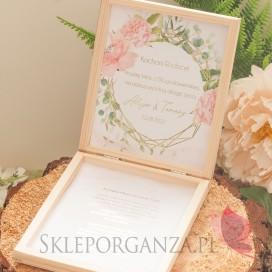 Prośba o błogosławieństwo - personalizacja kolekcja ślubna GEOMETRYCZNA GOLD RÓŻ KWIATY