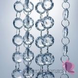 Girlandy kryształowe Kryształowa girlanda bezbarwna 18mm
