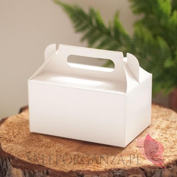 Pudełka weselne na ciasto Pudelko na ciasto białe małe