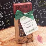 Ciemna czekolada z miodem, truskawkami i crispy - personalizacja - Ślubowanie