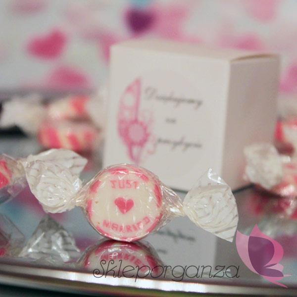 Oryginalne słodycze ślubne– Cukierki JUST MARRIED!