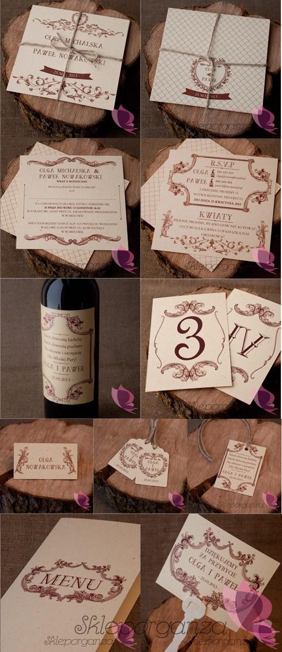 Zaproszenia I Dodatki ślubne Kolekcja Vintage Skleporganzapl Blog
