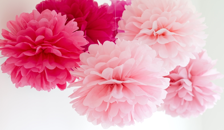 Bibułkowe Kule Kwiatowe Pompony Nowe Kolory