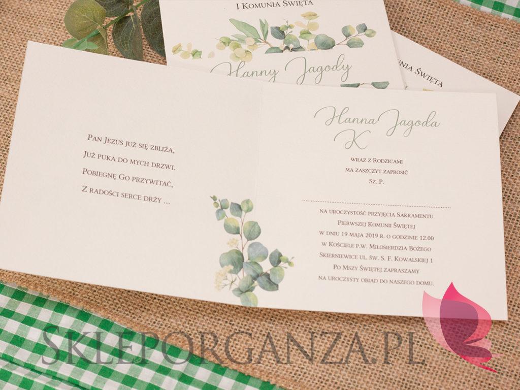 zaproszenia z kolekcji eukaliptus, zaproszenia, personalizowane zaproszenia, zaproszenia w stylu rustykalnym, zaproszenia rustic, zaproszenia z motywem eukaliptusa, zaproszenia z personalizacją