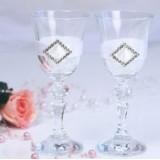 Ozdoby i kieliszki weselne