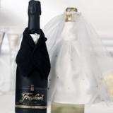 Ozdoby na butelki weselne