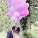 Balony pastelowe na wesele