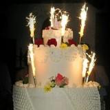 Fontanny i świeczki weselne