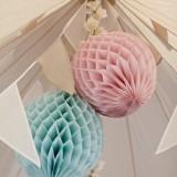 Paper honeycomb decorations