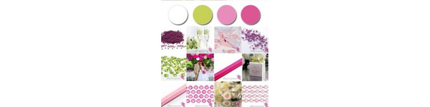 Palette - White, Green, Pink