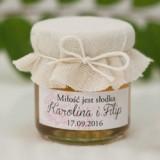 Miodziki weselne personalizowane