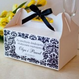 Pudełka weselne na ciasto personalizowane