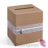 Tekturowe pudełka na koperty ślubne